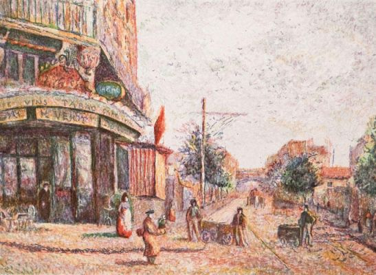 Avenue Of The Street Vendor | Aquatint